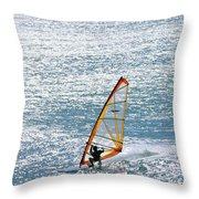Windsurfer, Baja, Mexico Throw Pillow