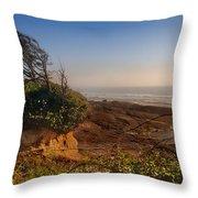 Windswept Coast Throw Pillow