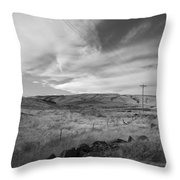 Windswept Hills Bw Throw Pillow