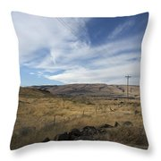 Windswept Hills Throw Pillow