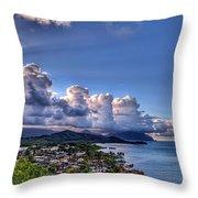 Windward Clouds Throw Pillow