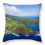 Windward Maui Aerial II Throw Pillow