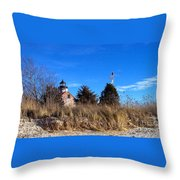 Windy Day At East Point  Throw Pillow