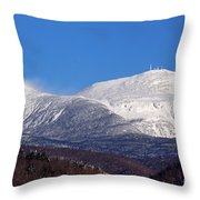 Windy Day At Mt Washington Throw Pillow