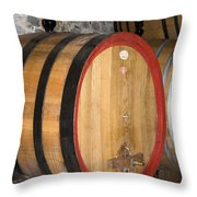 Wine Aging Throw Pillow