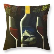 Wine And A Little More Throw Pillow