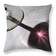 Wine Glass Reflection Throw Pillow by Anna Villarreal Garbis