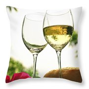 Wine Glasses Throw Pillow by Elena Elisseeva