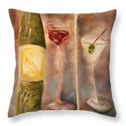 Wine Or Martini? Throw Pillow