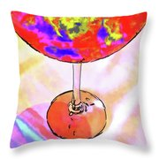 Wine Perpective Throw Pillow by Joan  Minchak