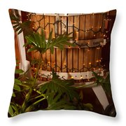 Wine Press Throw Pillow