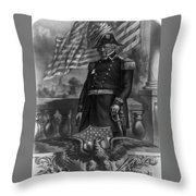 Winfield Scott, American Army General Throw Pillow
