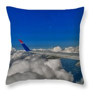 Wing And Clouds Throw Pillow