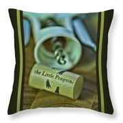Wino Penguin Throw Pillow