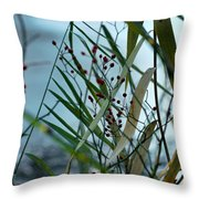 Winter And Fall Fight Throw Pillow