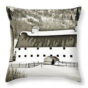 Winter Barn 2 Throw Pillow