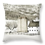 Winter Barn 3 Throw Pillow