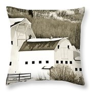 Winter Barn 4 Throw Pillow