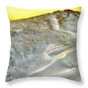 Winter Cape Cod Sunset Throw Pillow
