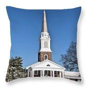 Winter Church Throw Pillow