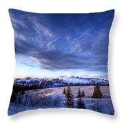 Winter Evening Clouds Throw Pillow