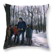 Winter Explorers Throw Pillow