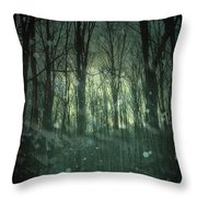 Winter Forest At Twilight Throw Pillow