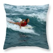 Winter In Hawaii 1 Throw Pillow