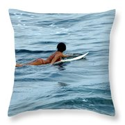 Winter In Hawaii 2 Throw Pillow