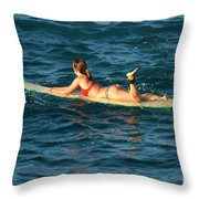 Winter In Hawaii 6 Throw Pillow