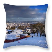 Winter In Inverness Throw Pillow