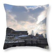 Winter In Philly Throw Pillow