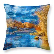 Winter In Salida -- Renoir Throw Pillow