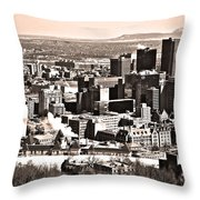 Winter In The City ... Throw Pillow