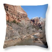 Winter In Zion 2 Throw Pillow