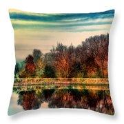 Winter Lake Fantasm Throw Pillow