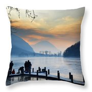 Winter Lake Throw Pillow
