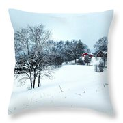 Winter Landscape 1 Throw Pillow