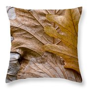 Autumn Leaves Of Gold Throw Pillow