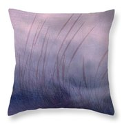 Winter Long Grass Throw Pillow