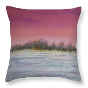 Winter Meadow Throw Pillow