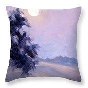 Winter Moonrise Throw Pillow