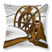 Winter On Board Throw Pillow