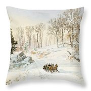 Winter On Ravensdale Road Throw Pillow