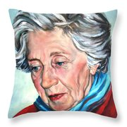 Winter Portrait Sophia Throw Pillow