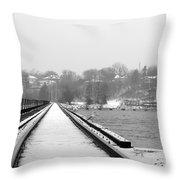 Winter Rails Throw Pillow