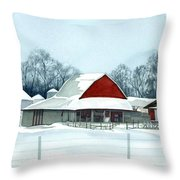 Winter Respite In The Heartland Throw Pillow