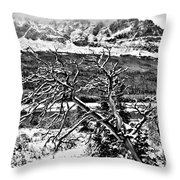 Winter Sets In Throw Pillow