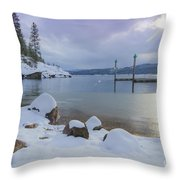 Winter Shore Throw Pillow by Idaho Scenic Images Linda Lantzy
