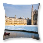 Winter Snow At Kings Throw Pillow